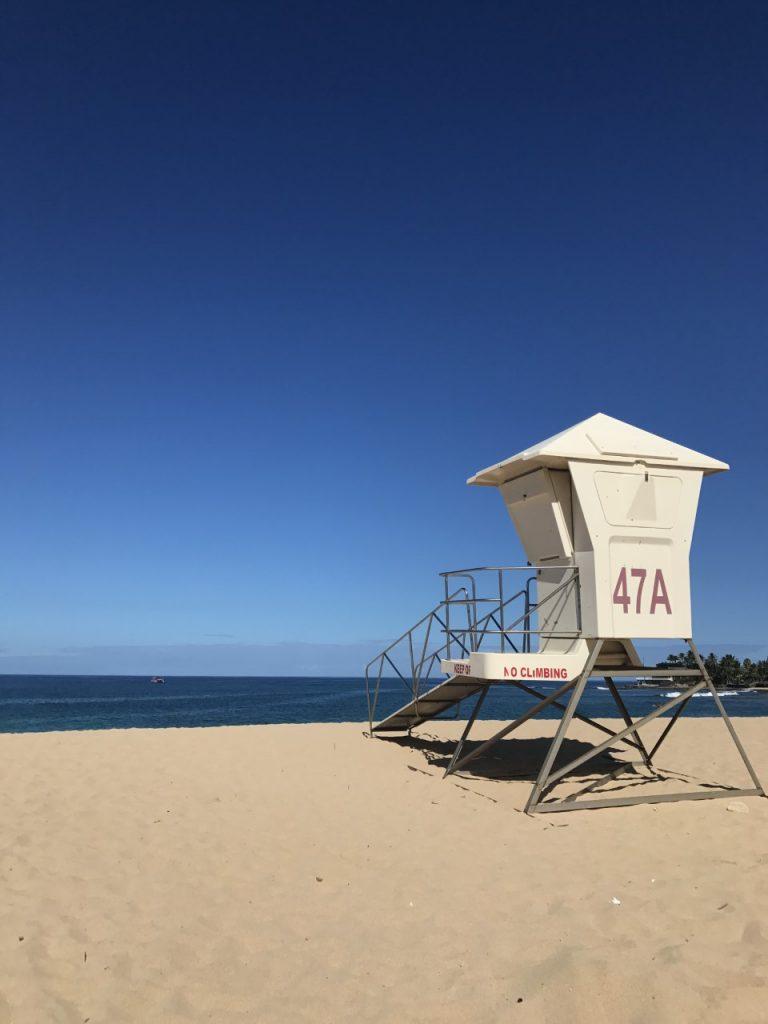 Cabane de Lifeguard à la plage de MAKAHA