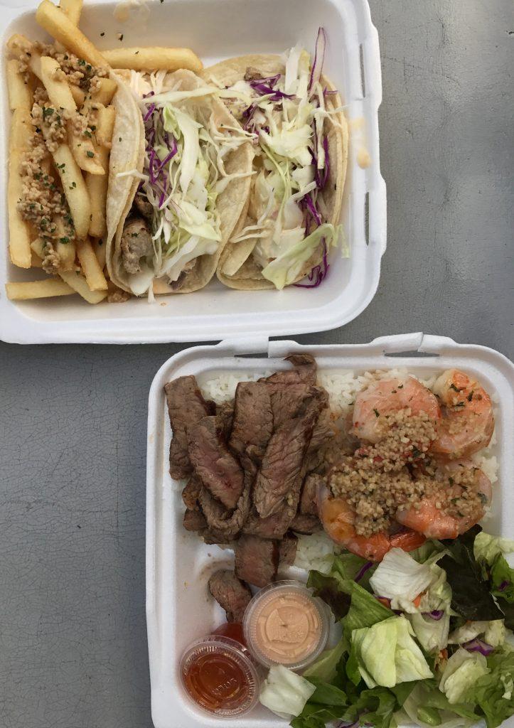 OAHU HAWAII ONO STEAK AND SHRIMP SHACK WAIMANALO food