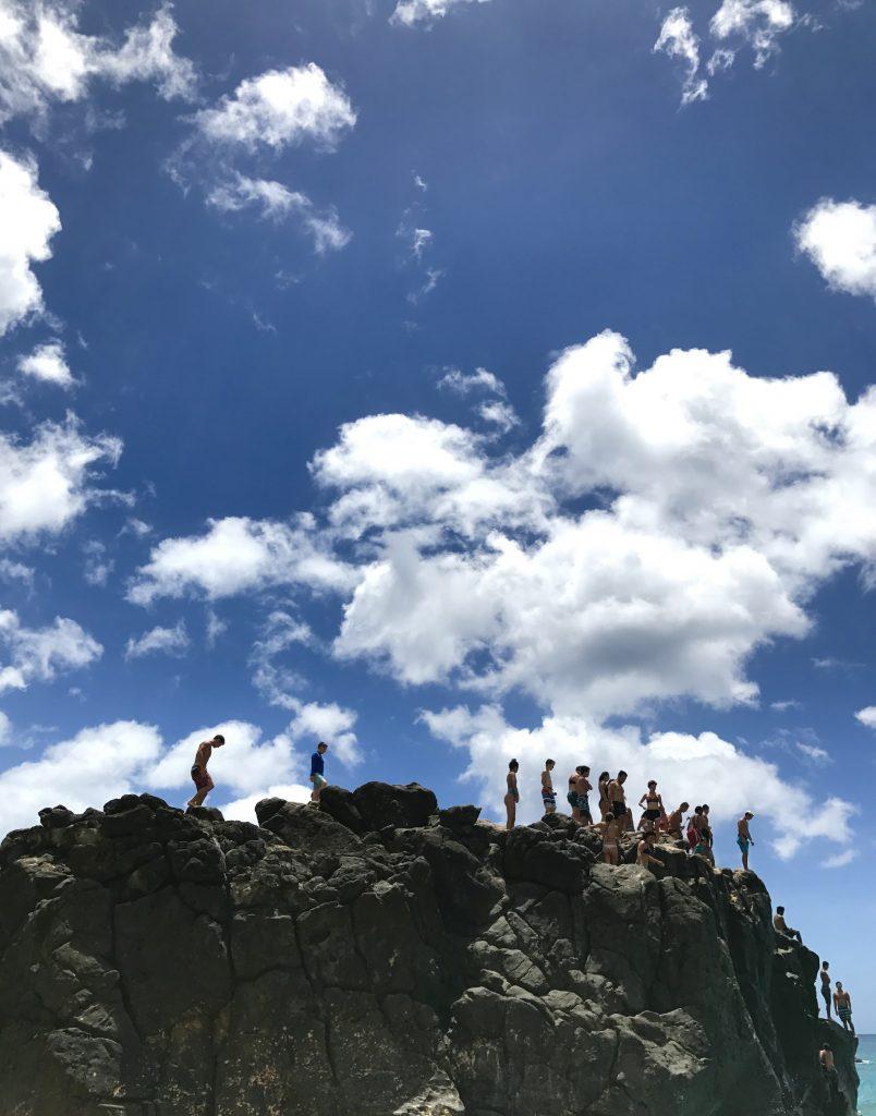 e la roche de Waimea Bay