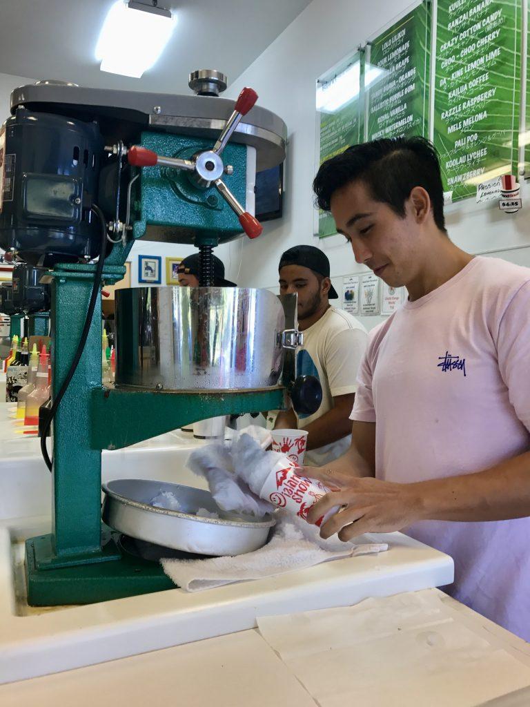 local Shave Ice machine Hawaii