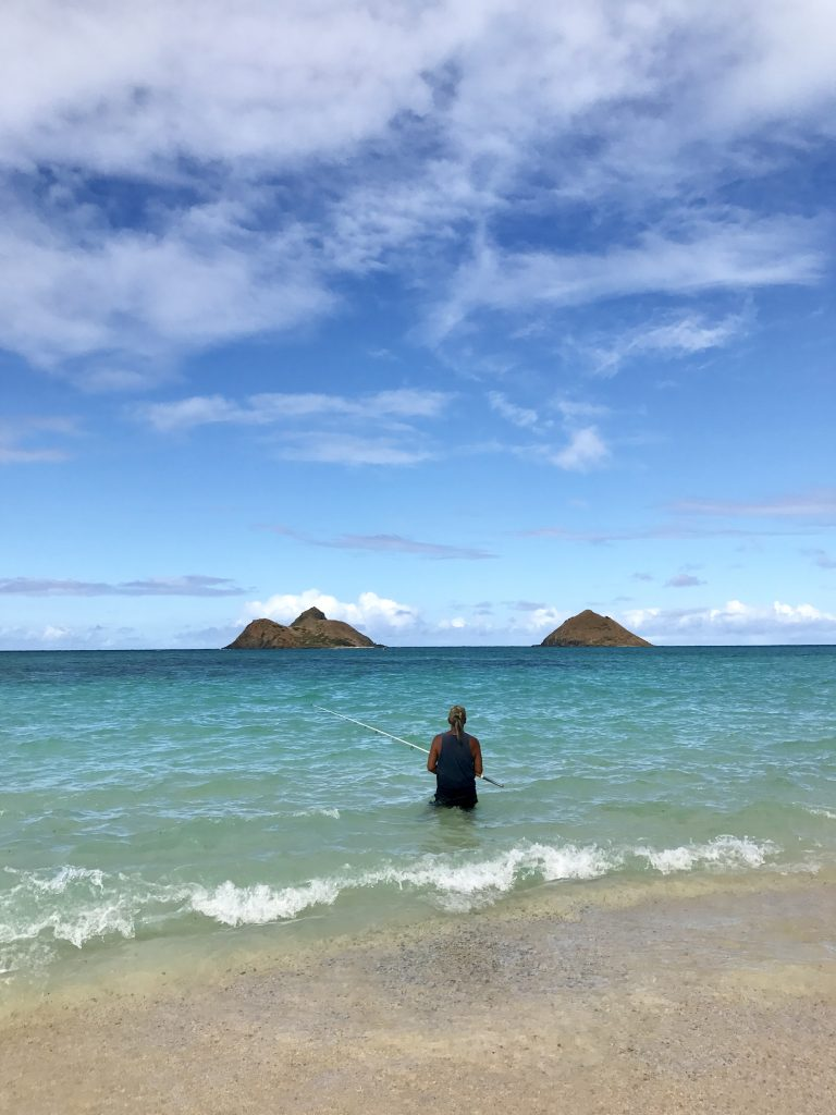 Comme un local fisherman Lanikai Hawaii