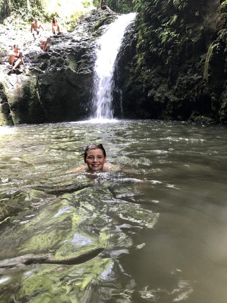 HAWAII MAUNAWILI WATERFALL Chute Maunawili