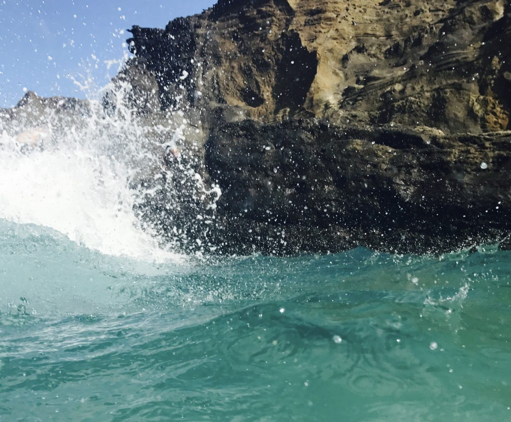 hawaii eternity beach splash of water
