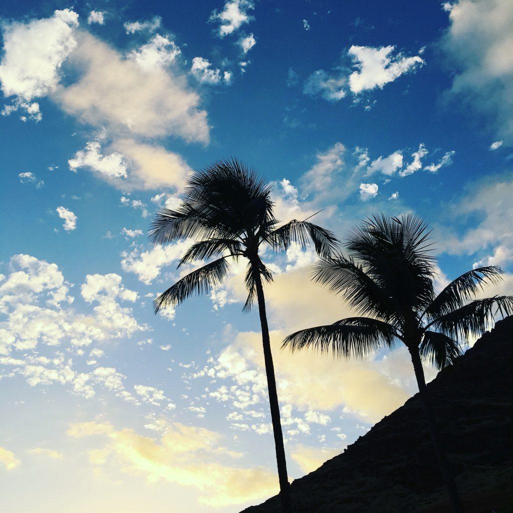 hawaii blues sunset blue