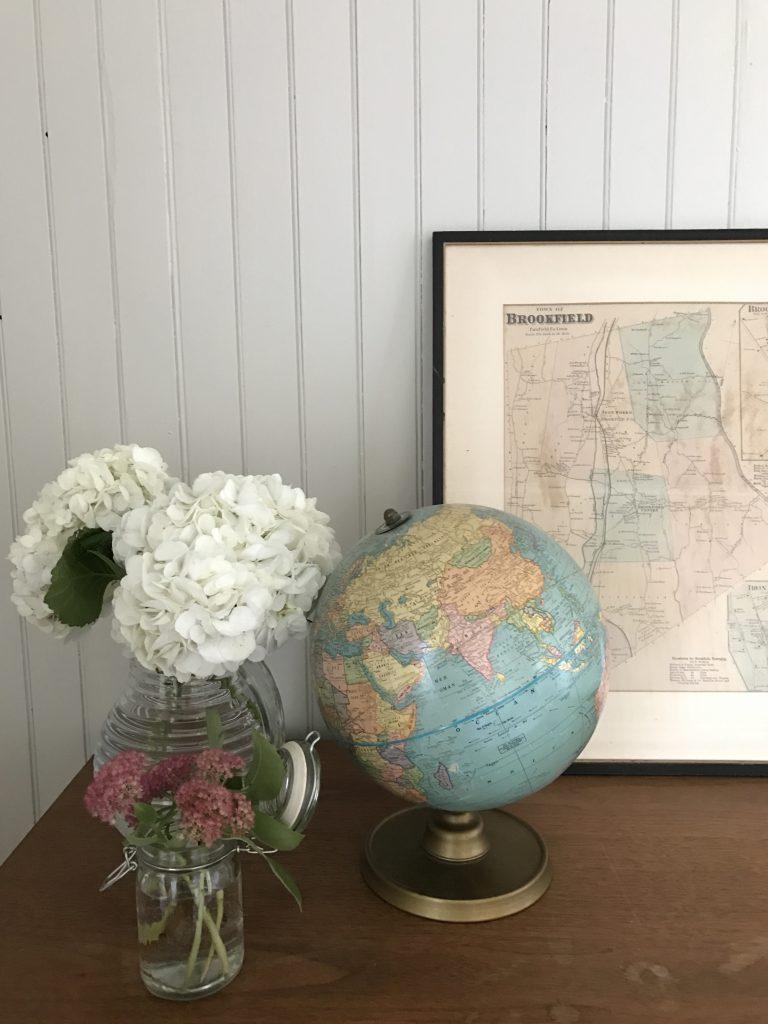 Globe terrestre et map Kamouraska